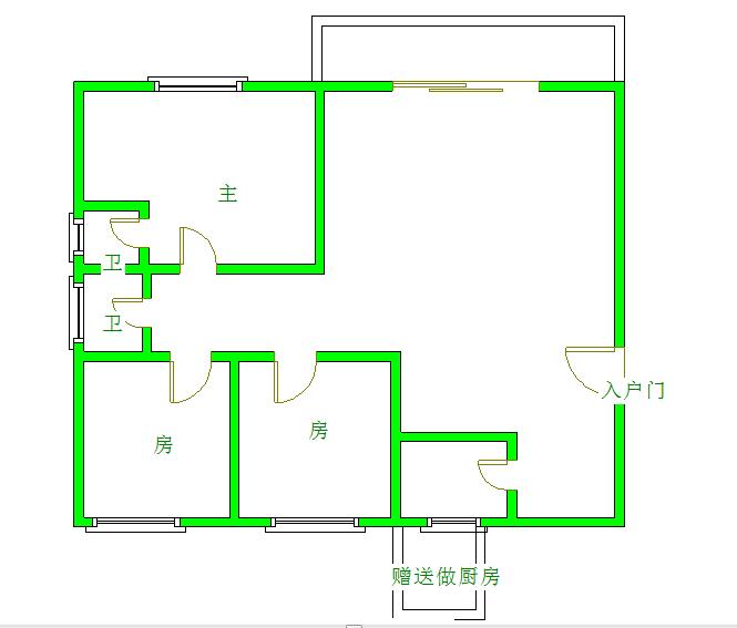 万洲商城3室2厅2卫116.00平方60.00万